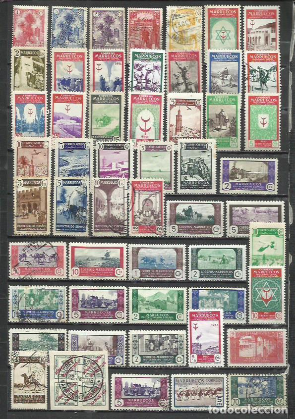 R381- LOTE MARRUECOS COLONIA TERRITORIO ESPAÑOL ANTIGUOS SELLOS AFRICA . (Sellos - España - Colonias Españolas y Dependencias - África - Marruecos)