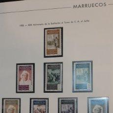 Sellos: 1955 MARRUECOS ESPAÑA SERIE COMPLETA NUEVA EDIFIL 496/15 *** TRONO FILATELIA COLISEVM. Lote 261182035