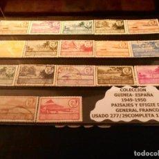 Sellos: SELLOS: AÑO 1949-1950. PAISAJES Y EFIGIE DEL GENERAL FRANCO.EDIFIL 277/293 USADOS. Lote 261574000