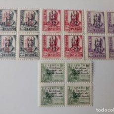 Sellos: SERIE COMPLETA EN BL4 DEL AÑO 1939 EDIFIL 256/259 EN NUEVO **. Lote 261990650