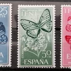 Sellos: IFNI, 1963 PRO INFANCIA ,SERIE ; ** (21-439). Lote 262095345