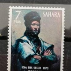 Sellos: 1973 .SAHARA ESPAÑOL.PINTURAS. EDIF.313 ** (21-441). Lote 262345460