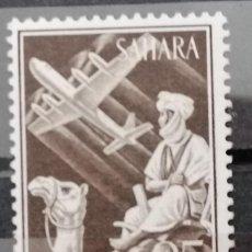 Sellos: 1961.SAHARA ESPAÑOL. INDIGENA Y AVION EN VUELO .SERIE ** (21-449). Lote 262347700