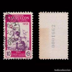 Selos: MARRUECOS .1953.PRO TUBERCULOSOS.10C USADO.EDIFIL. 375. Lote 262398895