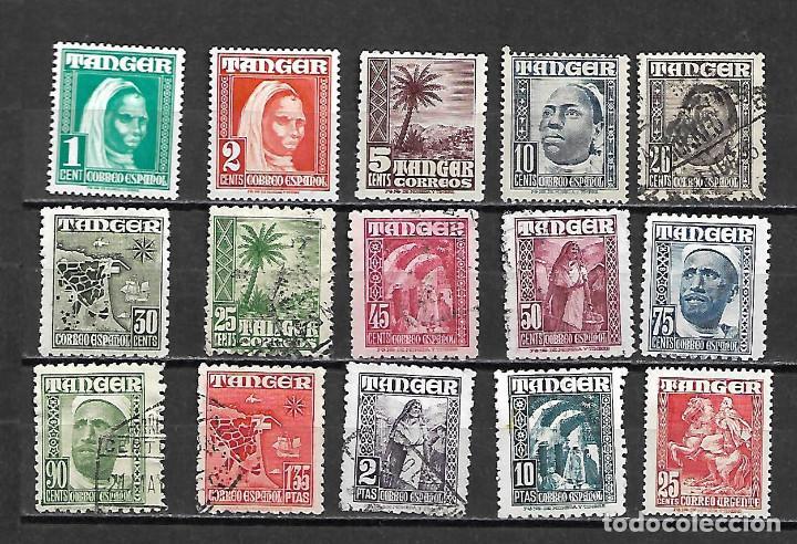 SERIE DE TANGER COMPLETA Nº 151/165 DE 1948/51DISTINTAS CALIDADES LA DE LA FOTO (Sellos - España - Colonias Españolas y Dependencias - África - Marruecos)