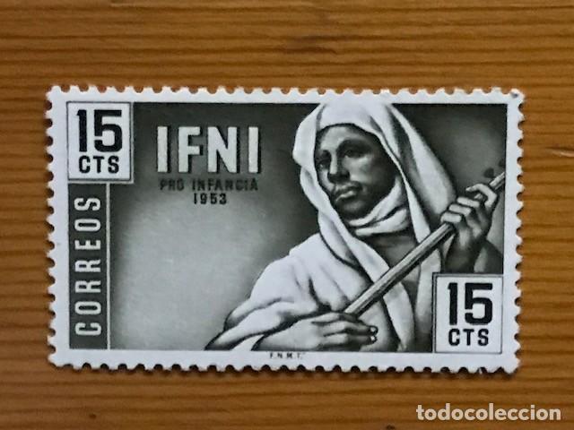 Sellos: IFNI, PRO INFANCIA, 1953, EDIFIL 95 AL 98, NUEVOS CON FIJASELLOS - Foto 4 - 262844470