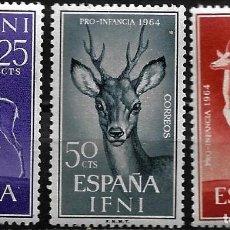 Sellos: IFNI - PRO INFANCIA - EDIFIL 203-205- 1964 - NUEVOS SIN FIJASELLOS. Lote 262855315