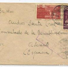 Sellos: MARRUECOS. SOBRE VILLA SANJURJO 22 MAY 1942 ALICANTE. CENSURA A71.5 VIOLETA DE LLEGADA.. Lote 262859925