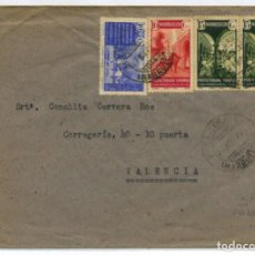 Sellos: MARRUECOS. SOBRE VILLA SANJURJO 27 NOV 1942 VALENCIA. SOBRE MAL ABIERTO. CENSURA DE LLEGADA. Lote 262860315