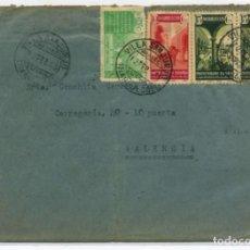 Sellos: MARRUECOS. SOBRE VILLA SANJURJO 19 FEB 1943 VALENCIA. CENSURA VIOLETA DE LLEGADA. Lote 262860635