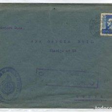 Sellos: MARRUECOS. SOBRE VILLA SANJURJO 20 JUN 1939 CEUTA. FRANQUICIA AZUL ARTILLERIA CEUTA. CENSURA V94.1. Lote 262862195
