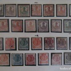 Timbres: ESPAÑA PRIMER CENTENARIO - COLONIAS - GUINEA 1912 EDIFIL 85/97 Y 1914 EDIFIL 98/110 -.. Lote 263335245