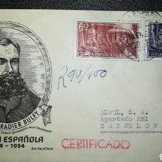 Sellos: ESPAÑA - GUINEA ESPAÑOLA 1955 CENTENARIO NACIMIENTO IRADIER EDIFIL 342/343 SOBRE PRIMER DÍA SPD FDC. Lote 264484979