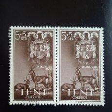 Selos: IFNI ESPAÑOLA 5+5 CTS DIA DEL DELLO AÑO 1956.. Lote 264837259