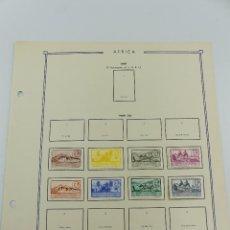Selos: HOJA CON SELLOS DE ESPAÑA – AFRICA AÑOS 1949 Y 1950. Lote 265535119