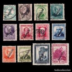 Sellos: TANGER.1933-1938.12 VALORES.USADO.EDIFIL 70-72/82. Lote 266183048