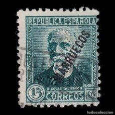 Sellos: TANGER 1933-38. SELLOS ESPAÑA HABILITADO.15C.USADO.EDIFIL 74. Lote 266223513