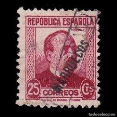 Sellos: TANGER 1933-38.SELLOS ESPAÑA HABILITADO.25C.USADO.EDIFIL 76. Lote 266224608