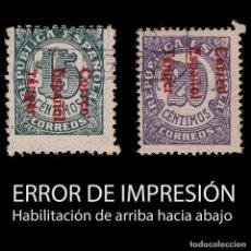 Sellos: TANGER.1938.SELLOS ESPAÑA.15C-20C.ERROR IMPRESIÓN.USADO.EDIFIL 98HI-99HI. Lote 266367468