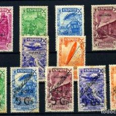 Selos: GUINEA ESPAÑOLA (BENEFICENCIA) Nº 1/6, 7/11. AÑO 1938/41. Lote 267101029