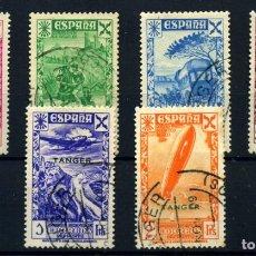 Sellos: TANGER (BENEFICENCIA) Nº 6/11. AÑO 1938. Lote 267102159
