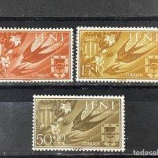 Sellos: IFNI, 1958. EDIFIL 142/44. FAUNA AVES. SERIE COMPLETA. NUEVO. SIN FIJASELLOS.. Lote 267575754