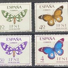 Sellos: IFNI, 1966. EDIFIL 221/24. DIA DEL SELLO. SERIE COMPLETA. NUEVO. SIN FIJASELLOS. Lote 267576464