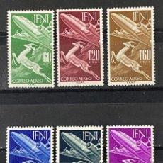 Sellos: IFNI, 1954. EDIFIL 89/94. PRO INFANCIA. SERIE COMPLETA. NUEVO. 2 CON CHARNELA. VER. Lote 267700534
