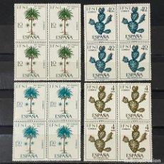 Sellos: IFNI, 1967. EDIFIL 225/28. FLORA. SERIE COMPLETA. NUEVO. SIN FIJASELLOS. BLOQUE DE 4. Lote 267702954