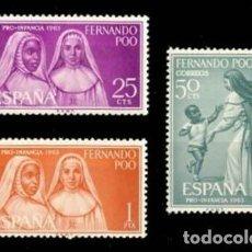 Selos: FERNANDO POO EDIFIL 215-217 NUEVOS MNH **. Lote 268029164