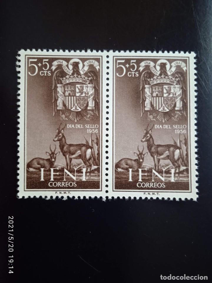 ESPAÑA IFNI, 5+5 CTS DIA DEL SELLO AÑO 1956. (Sellos - España - Colonias Españolas y Dependencias - África - Ifni)