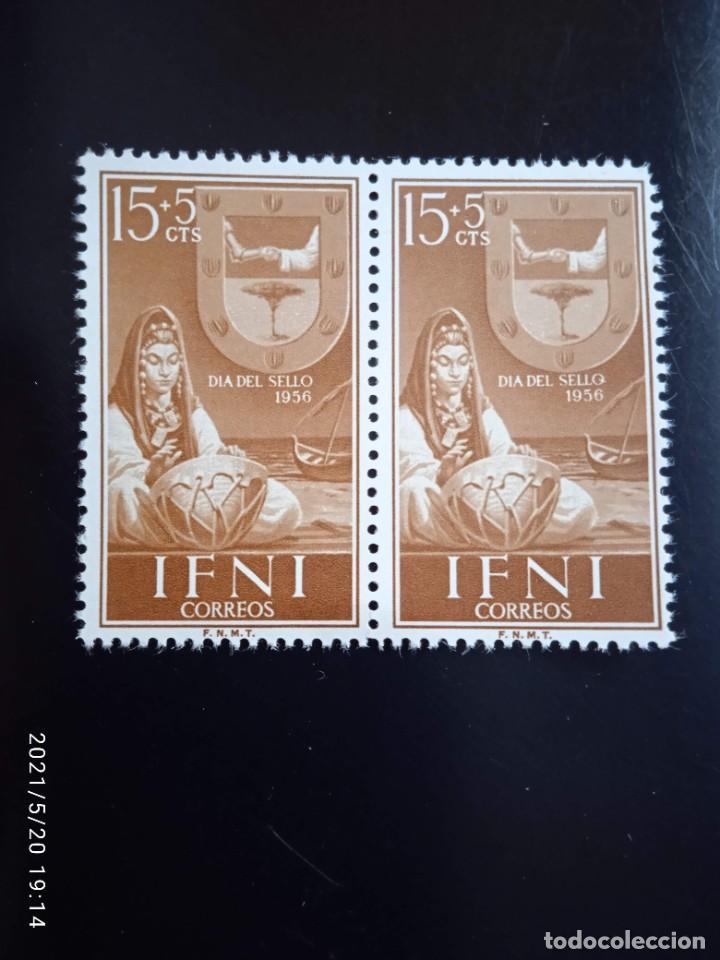 ESPAÑA IFNI, 15+5 CTS DIA DEL SELLO AÑO 1956. (Sellos - España - Colonias Españolas y Dependencias - África - Ifni)