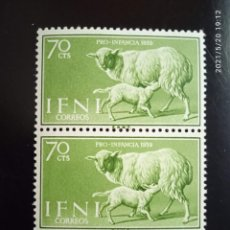 Sellos: ESPAÑA IFNI, 70 CTS, PRO INFANCIA AÑO 1959.. Lote 268867959