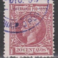 Sellos: 1899 FERNANDO POO ALFONSO XIII 20 CÉNT. USADO. VER. Lote 268916319