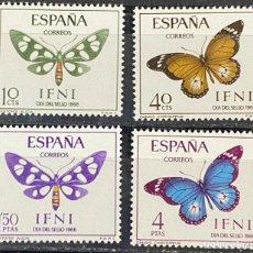 Sellos: IFNI, 1966. EDIFIL 221/24. DIA DEL SELLO. SERIE COMPLETA. NUEVO. SIN FIJASELLOS.. Lote 269188613