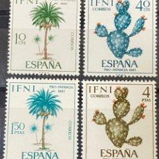 Sellos: IFNI, 1967. EDIFIL 225/28. FLORA. SERIE COMPLETA. NUEVO. SIN FIJASELLOS. Lote 269188908
