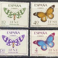 Sellos: IFNI, 1966. EDIFIL 221/24. DIA DEL SELLO. SERIE COMPLETA. NUEVO. CON CHARNELA. Lote 269188953