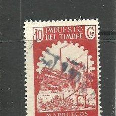 Sellos: MARRUECOS E. 1940-41 - IMPUESTO DEL TIMBRE10 CTS. - USADO. Lote 270232548