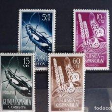 Sellos: SERIE COMPLETA GUINEA EDIFIL 330 ** A 333 ** DIA DEL SELLO 1953. Lote 270358453