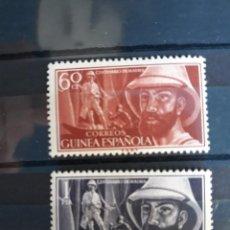 Sellos: SERIE COMPLETA GUINEA EDIFIL 342 ** A 343 ** IRADIER 1955. Lote 270358963