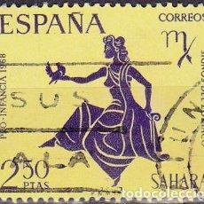 Sellos: 1968 - SAHARA - PRO INFANCIA - SIGNOS DEL ZODIACO - VIRGO - EDIFIL 267. Lote 270569518