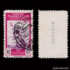 Sellos: MARRUECOS 1953.PRO TUBERCULOSOS.10C.USADO.EDIFIL.375. Lote 270945463