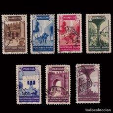 Sellos: MARRUECOS 1941.TIPOS DIVESOS.SERIE USADO.EDIFIL.234.240. Lote 270956538