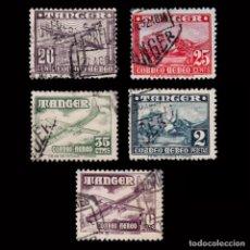 Sellos: TANGER. 1948. AVIONES.5 VALORES USADO.EDIFIL 166/168-170/171. Lote 271049678