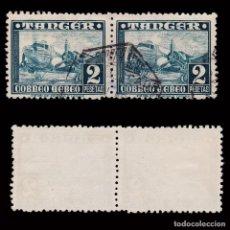 Sellos: TANGER.1948. AVIONES.2P BLQ 2 USADO.EDIFIL 170. Lote 271053503