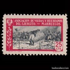 Sellos: MARRUECOS.BENEFICENCIA. ASOC.VIUDAS HUERFANOS EJERCITO.25C.MH.. Lote 271620558