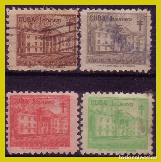 Sellos: CUBA 1942 Protuberculosos, ... , series (o) 2 imágenes - Foto 2 - 273520088