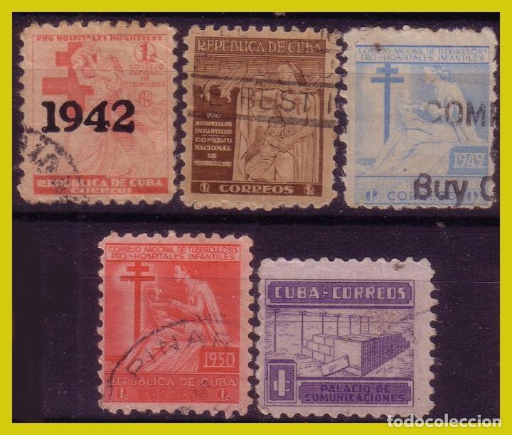 CUBA 1942 PROTUBERCULOSOS, ... , SERIES (O) 2 IMÁGENES (Sellos - España - Colonias Españolas y Dependencias - África - Elobey, Annobón y Corisco )