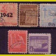 Sellos: CUBA 1942 PROTUBERCULOSOS, ... , SERIES (O) 2 IMÁGENES. Lote 273520088