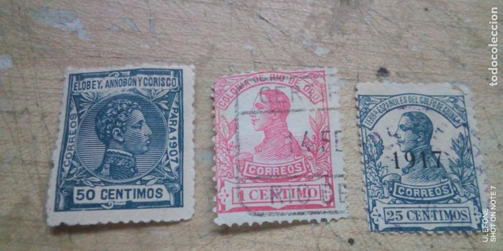3 SELLOS COLONIAS ESPAÑOLAS EN AFRICA DE ALFONSO XIII (Sellos - España - Colonias Españolas y Dependencias - África - Otros)